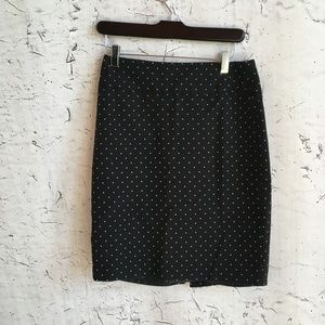 LIZ CLAIBORNE BLACK POLKA DOT PENCIL SKIRT 4
